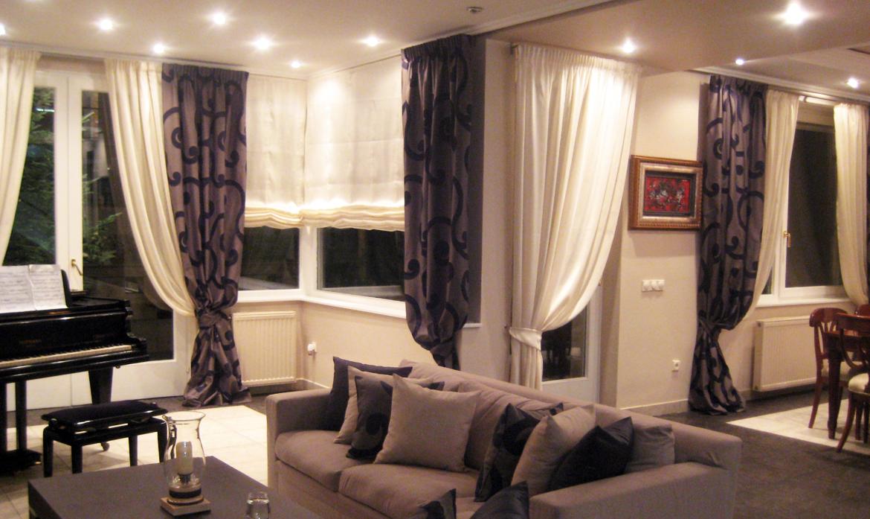 Zavese za dnevnu sobu: model, vrsta tkanine, tekstura, boja